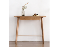 Natural Solid Oak Console Table