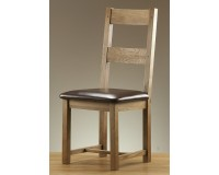 American  White Oak Leather Dining Chair