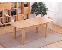 Solid American White Oak Extension Dining Table