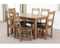 1.6m American White Oak 7 Pieces Dining Set ON SALE!!!